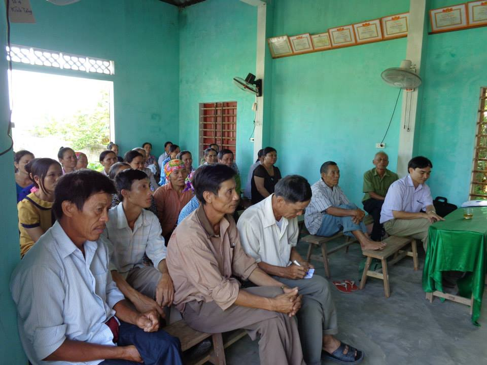 Khai giảng Lớp kỹ thuật trồng lúa Thôn 5- Cẩm Hưng
